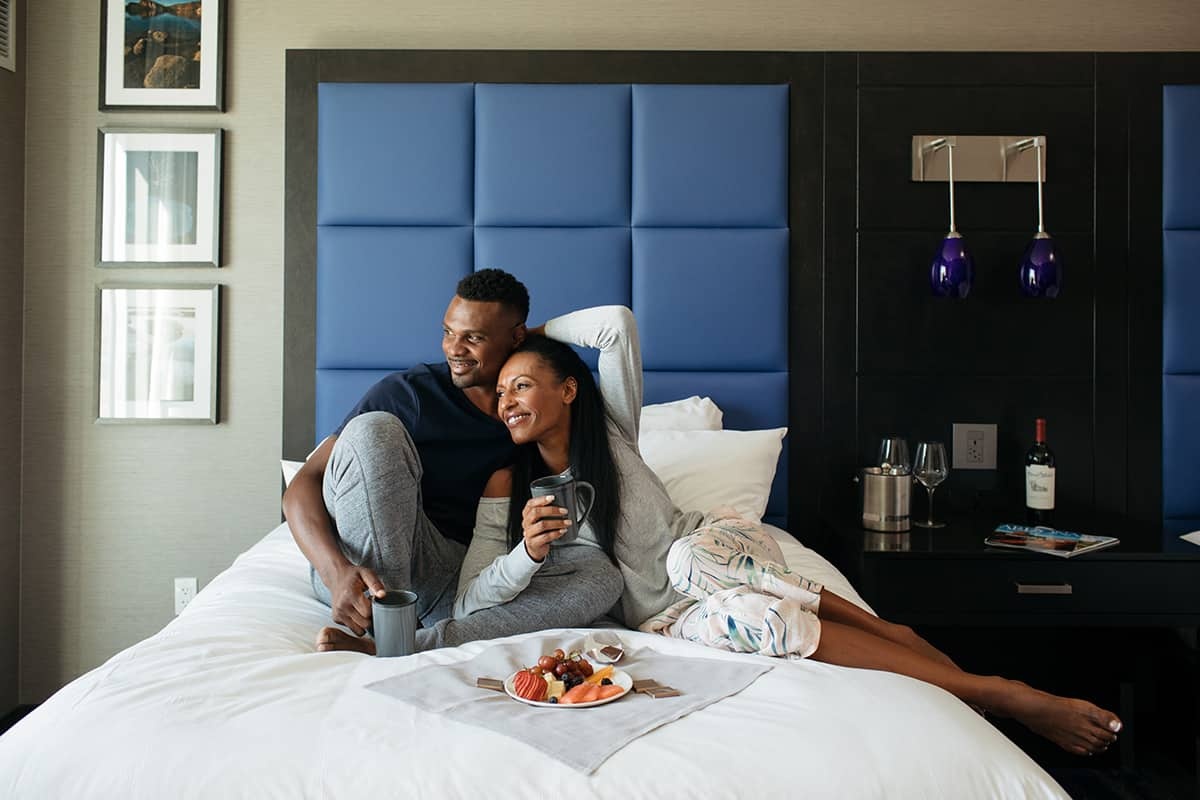 Harrah's Ak-Chin Photos - Couple on Bed