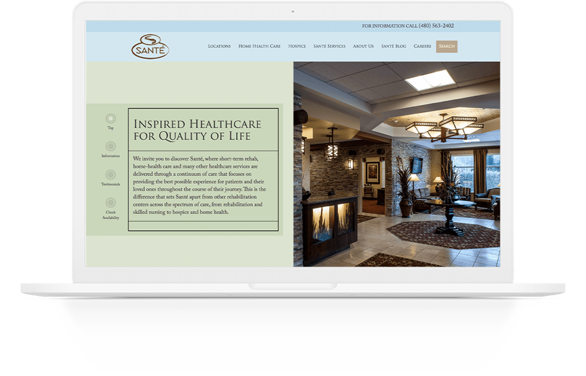 Website Development | Santé Center | Case Study | Commit Agency