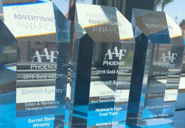 Taking Home Five ADDY Awards from Phoenix Ad Club | Blog | Commit Agency