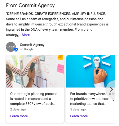 google my business | Commit agency