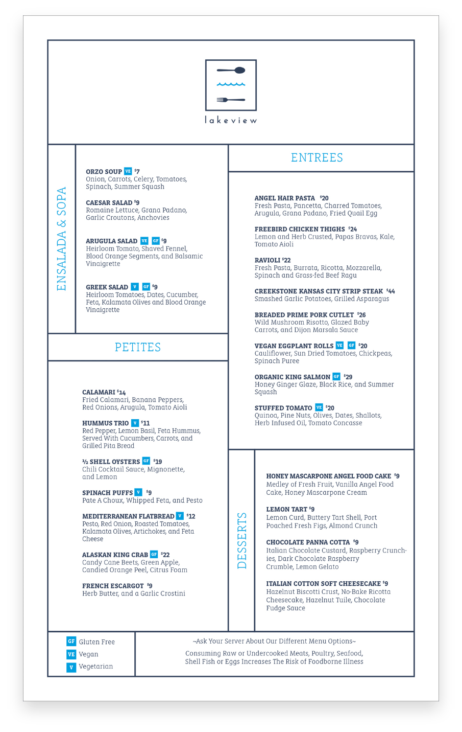 Menu Design | Skytop Lodge | Case Studies | Commit Agency
