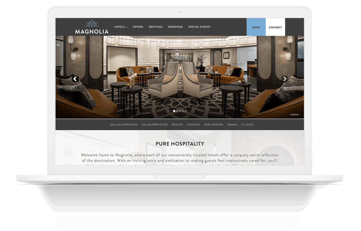 Increase Online Revenue | Magnolia Hotels | Pure Hospitality | Case Studies | Commit Agency