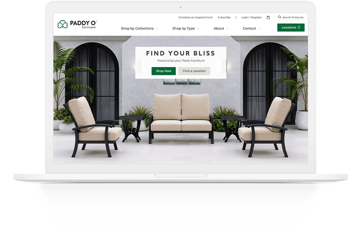 Website Development | Paddy O' Furniture | Case Study | Commit Agency