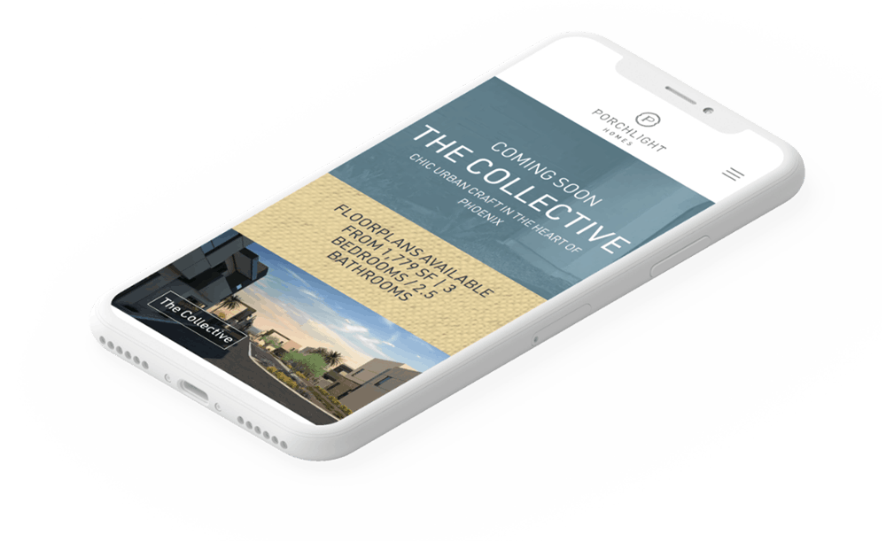 Responsive Website Development | Porchlight Homes | Case Study | Commit Agency