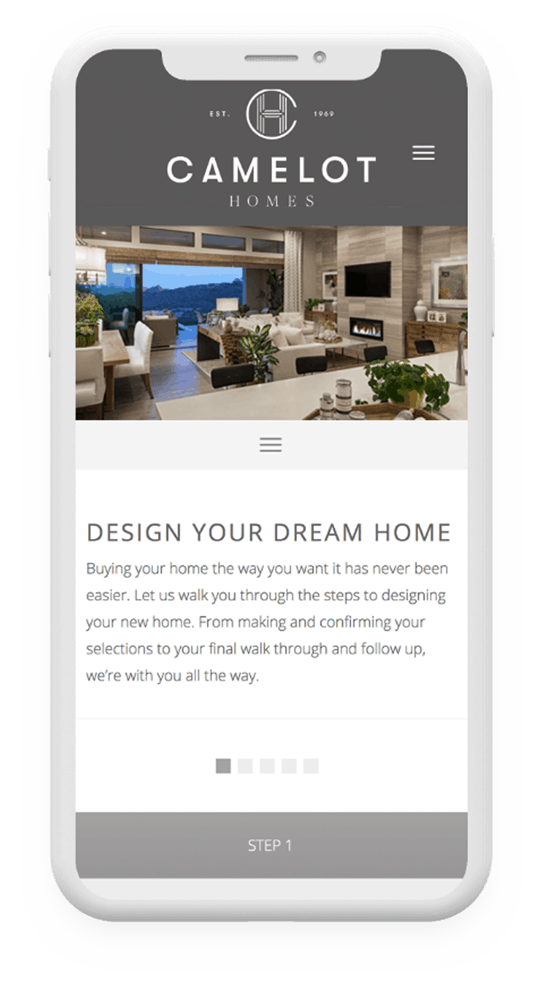 Responsive Website Development | Camelot Homes | Case Study | Commit Agency