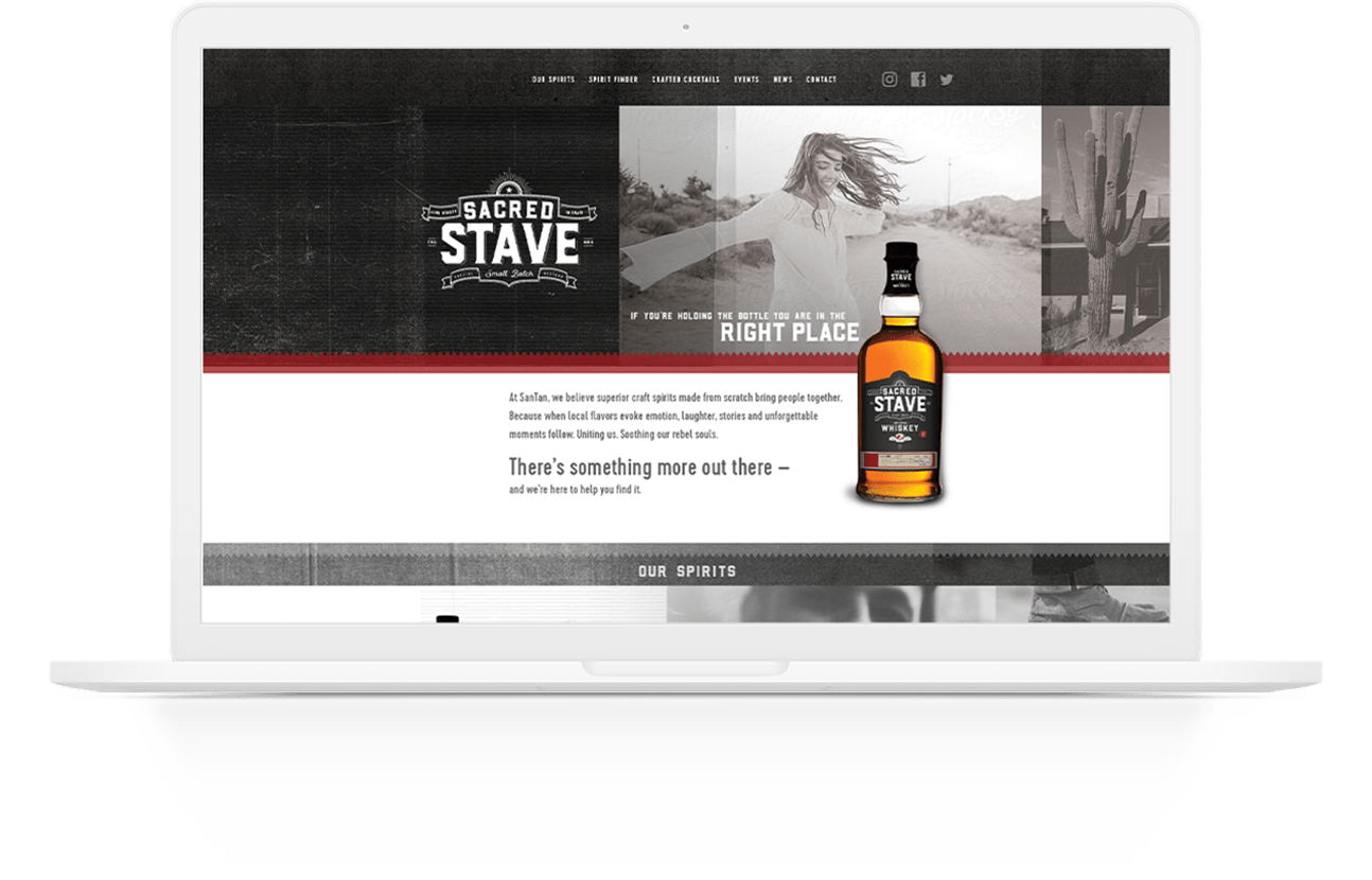 Website Design | Sacred Stave by SanTan Brewing Company | Case Studies | Commit Agency