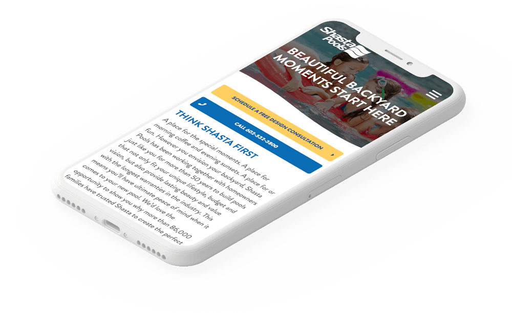Responsive Website Development | Shasta Pools | Case Study | Commit Agency