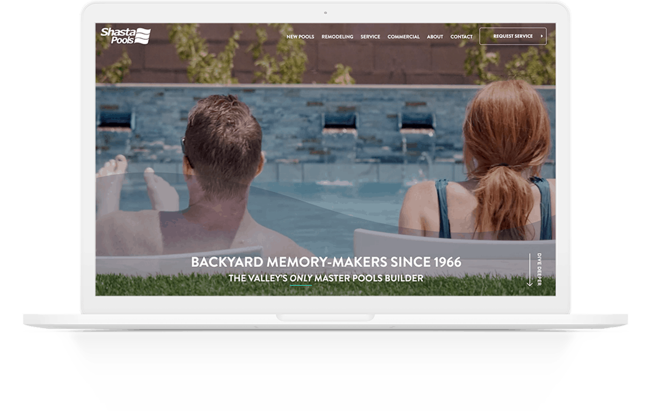 Website Development | Shasta Pools | Case Study | Commit Agency